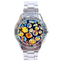 Woodpile Abstract Stainless Steel Men s Watch by Costasonlineshop