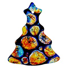 Woodpile Abstract Christmas Tree Ornament (2 Sides) by Costasonlineshop