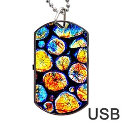Woodpile Abstract Dog Tag Usb Flash (one Side) by Costasonlineshop