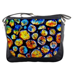 Woodpile Abstract Messenger Bags