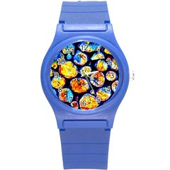 Woodpile Abstract Round Plastic Sport Watch (S) by Costasonlineshop