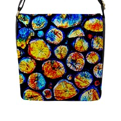 Woodpile Abstract Flap Messenger Bag (l)  by Costasonlineshop