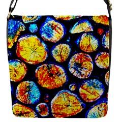 Woodpile Abstract Flap Messenger Bag (s)
