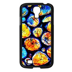 Woodpile Abstract Samsung Galaxy S4 I9500/ I9505 Case (black) by Costasonlineshop