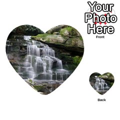Elakala Falls Multi Purpose Cards (heart)  by trendistuff