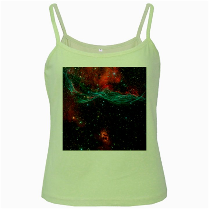 VELA SUPERNOVA Green Spaghetti Tanks