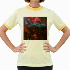 Vela Supernova Women s Fitted Ringer T Shirts