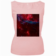 Vela Supernova Women s Pink Tank Tops