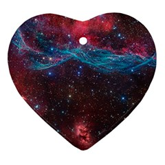 Vela Supernova Heart Ornament (2 Sides)
