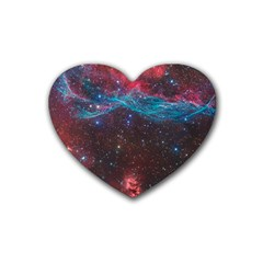 Vela Supernova Heart Coaster (4 Pack)