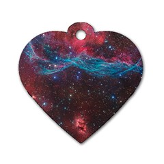 Vela Supernova Dog Tag Heart (two Sides)