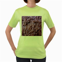 Purple Wall Background Women s Green T Shirt