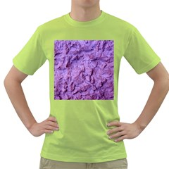 Purple Wall Background Green T Shirt by Costasonlineshop
