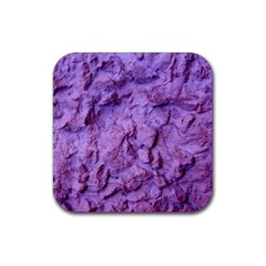 Purple Wall Background Rubber Square Coaster (4 Pack)  by Costasonlineshop