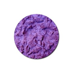 Purple Wall Background Rubber Coaster (Round)  by Costasonlineshop