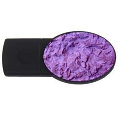 Purple Wall Background Usb Flash Drive Oval (2 Gb)  by Costasonlineshop