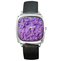 Purple Wall Background Square Metal Watches by Costasonlineshop