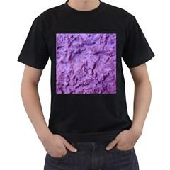 Purple Wall Background Men s T Shirt (black) (two Sided) by Costasonlineshop