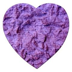 Purple Wall Background Jigsaw Puzzle (heart)