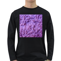 Purple Wall Background Long Sleeve Dark T Shirts by Costasonlineshop