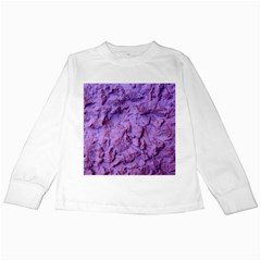 Purple Wall Background Kids Long Sleeve T Shirts by Costasonlineshop