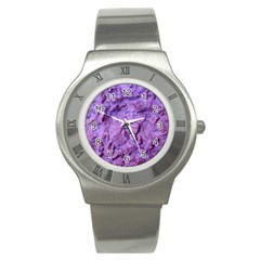 Purple Wall Background Stainless Steel Watches by Costasonlineshop