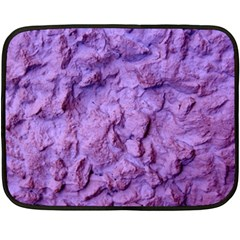 Purple Wall Background Double Sided Fleece Blanket (mini)