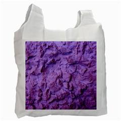 Purple Wall Background Recycle Bag (one Side) by Costasonlineshop