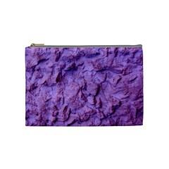 Purple Wall Background Cosmetic Bag (medium)