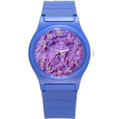 Purple Wall Background Round Plastic Sport Watch (s) by Costasonlineshop