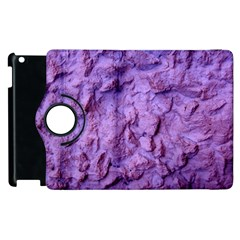 Purple Wall Background Apple Ipad 3/4 Flip 360 Case by Costasonlineshop