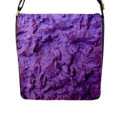 Purple Wall Background Flap Messenger Bag (l)  by Costasonlineshop
