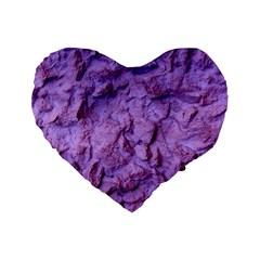 Purple Wall Background Standard 16  Premium Flano Heart Shape Cushions