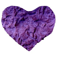 Purple Wall Background Large 19  Premium Flano Heart Shape Cushions by Costasonlineshop