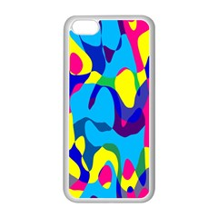Colorful Chaos			apple Iphone 5c Seamless Case (white) by LalyLauraFLM