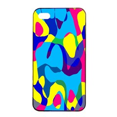 Colorful Chaosapple Iphone 4/4s Seamless Case (black) by LalyLauraFLM