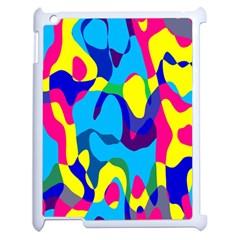 Colorful Chaosapple Ipad 2 Case (white) by LalyLauraFLM