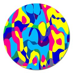 Colorful Chaos			magnet 5  (round) by LalyLauraFLM