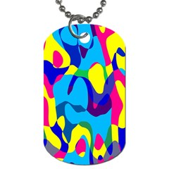 Colorful Chaos			dog Tag (one Side) by LalyLauraFLM