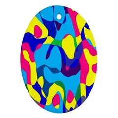Colorful Chaos			ornament (oval) by LalyLauraFLM