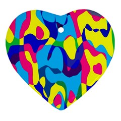 Colorful Chaosornament (heart) by LalyLauraFLM