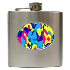 Colorful Chaos			hip Flask (6 Oz) by LalyLauraFLM