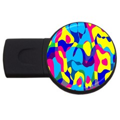 Colorful Chaos			usb Flash Drive Round (4 Gb) by LalyLauraFLM