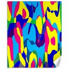 Colorful Chaoscanvas 16  X 20  by LalyLauraFLM