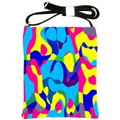 Colorful Chaos			shoulder Sling Bag by LalyLauraFLM