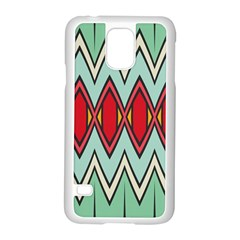 Rhombus And Chevrons Pattern			samsung Galaxy S5 Case (white) by LalyLauraFLM