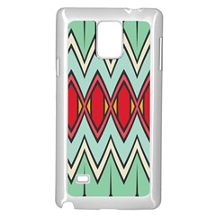 Rhombus And Chevrons Patternsamsung Galaxy Note 4 Case (white) by LalyLauraFLM