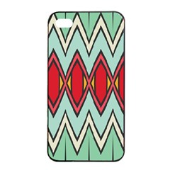 Rhombus And Chevrons Pattern			apple Iphone 4/4s Seamless Case (black) by LalyLauraFLM
