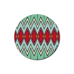 Rhombus And Chevrons Pattern			rubber Coaster (round) by LalyLauraFLM