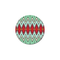 Rhombus And Chevrons Pattern			golf Ball Marker by LalyLauraFLM